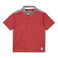 RJR.John Rocha - Designer boy's red textured short sleeved polo shirt
