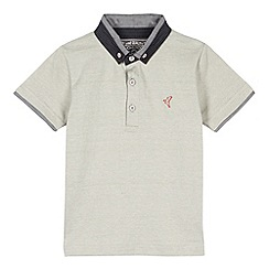 RJR.John Rocha - Designer boy's grey smart short sleeved polo shirt