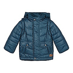 RJR.John Rocha - Designer boy's dark turquoise padded 2-in-1 coat and gilet
