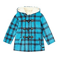 RJR.John Rocha - Boys' blue check fleece coat