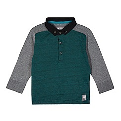 RJR.John Rocha - Designer boy's dark turquoise colour block polo shirt