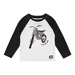 RJR.John Rocha - Designer boy's white flocked bike t-shirt
