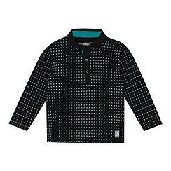 RJR.John Rocha - Designer boy's navy spotted polo shirt