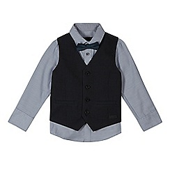 RJR.John Rocha - Boy's blue waistcoat, shirt and bow tie set