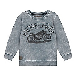 RJR.John Rocha - Boys' grey motorcycle print sweatshirt