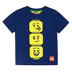 LEGO - Boy's navy Lego faces t-shirt