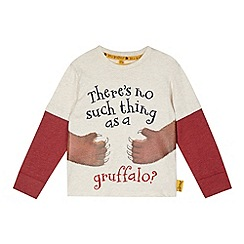 The Gruffalo - Boy's beige 'Gruffalo' slogan long sleeved t-shirt