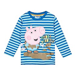 Peppa Pig - Boy's blue striped 'Peppa Pig' top