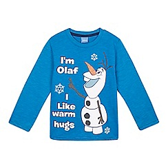 Disney Frozen - Baby boys' blue long sleeved Olaf t-shirt