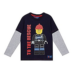 LEGO - Boys' navy 'Lego' print top