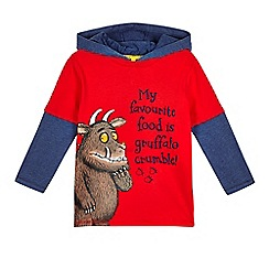 The Gruffalo - Boys' red The Gruffalo hooded t-shirt