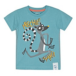 Mantaray - Boy's blue racoon print t-shirt