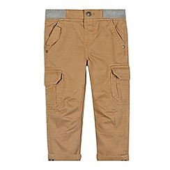 Mantaray - Boy's beige ribbed waist cargo trousers