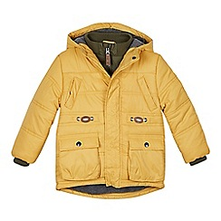 Mantaray - Boy's yellow padded hooded coat