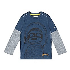 Mantaray - Boy's navy print long sleeved top