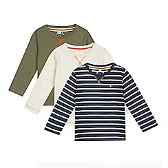 Mantaray - Pack of boys' assorted textured long sleeved t-shirts