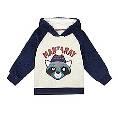 Mantaray - Boys' grey racoon sweater