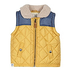 Mantaray - Boys' yellow borg collar gilet