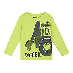 bluezoo - Boys' lime 'D For Digger' top