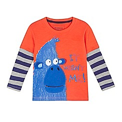 bluezoo - Boys' red mock sleeves monkey top