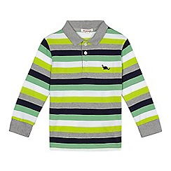 bluezoo - Boys' green striped polo shirt