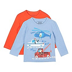 bluezoo - Set of three boys' multi graphic t-shirts
