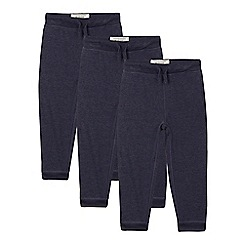 bluezoo - Set of three boys' navy joggers