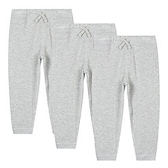 bluezoo - Set of three Boys' grey jogging bottoms