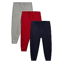bluezoo - Pack of three boys' multi-coloured jogging bottoms