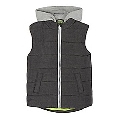 bluezoo - Boys' dark grey hooded gilet