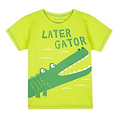 bluezoo - Boys' lime alligator print t-shirt
