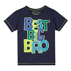 bluezoo - Boys' navy 'Best big bro' t-shirt