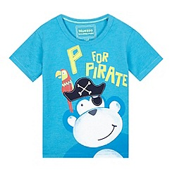 bluezoo - Boys' blue pirate monkey t-shirt