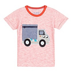 bluezoo - Boys' red digger zip t-shirt