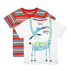 bluezoo - Pack of two boys' assorted giraffe and striped t-shirts