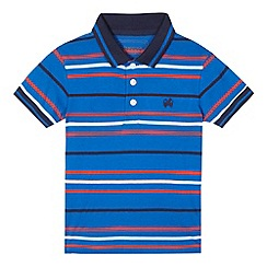bluezoo - Boys' navy striped print polo shirt