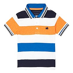 bluezoo - Boys' orange striped print polo shirt
