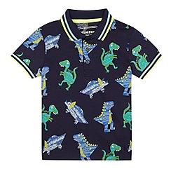 bluezoo - Boys' navy dinosaur print polo shirt