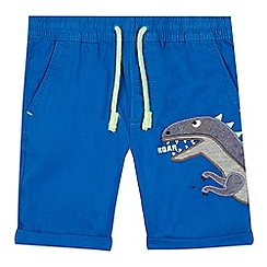 bluezoo - Boys' blue applique dinosaur shorts