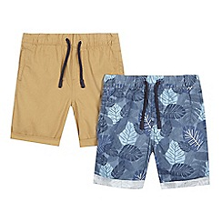 bluezoo - Pack of two boys' poplin shorts