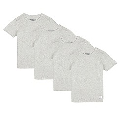 bluezoo - Pack of four boys' grey t-shirts