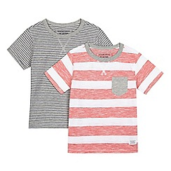 bluezoo - Pack of two boys' striped t-shirts