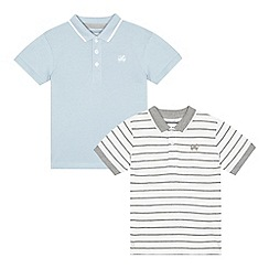 bluezoo - Set of two boys' light blue polo shirts