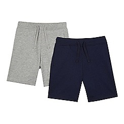 bluezoo - Pack of two boys' navy sweat shorts