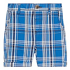 bluezoo - Boys' blue checked print chino shorts