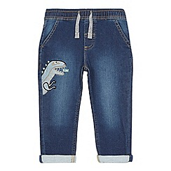 bluezoo - Boys' blue dinosaur applique jogger jeans