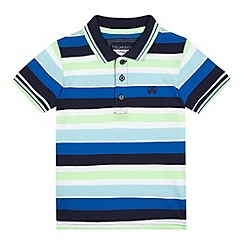 bluezoo - Boys' lime striped print polo shirt