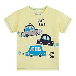 bluezoo - Boys' yellow car applique t-shirt