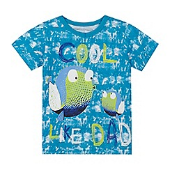 bluezoo - Boys' blue 'Cool like dad' fish print t-shirt
