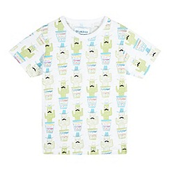 bluezoo - Boys' white cactus print t-shirt